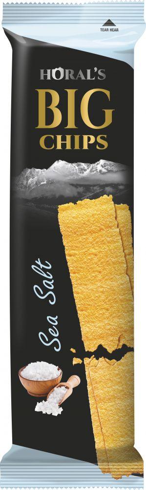 Horal´s Big Chips s příchutí Mořské soli 75g