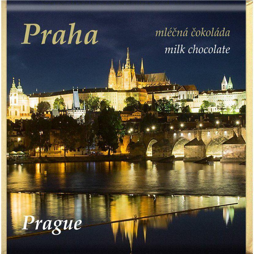 Čokoláda Praha mléčná 32% 85g - mix motivů