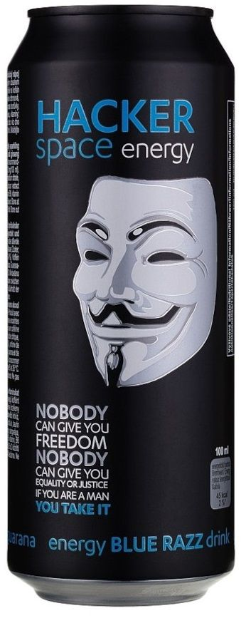 Hacker Blue Razz energy drink 0,5l